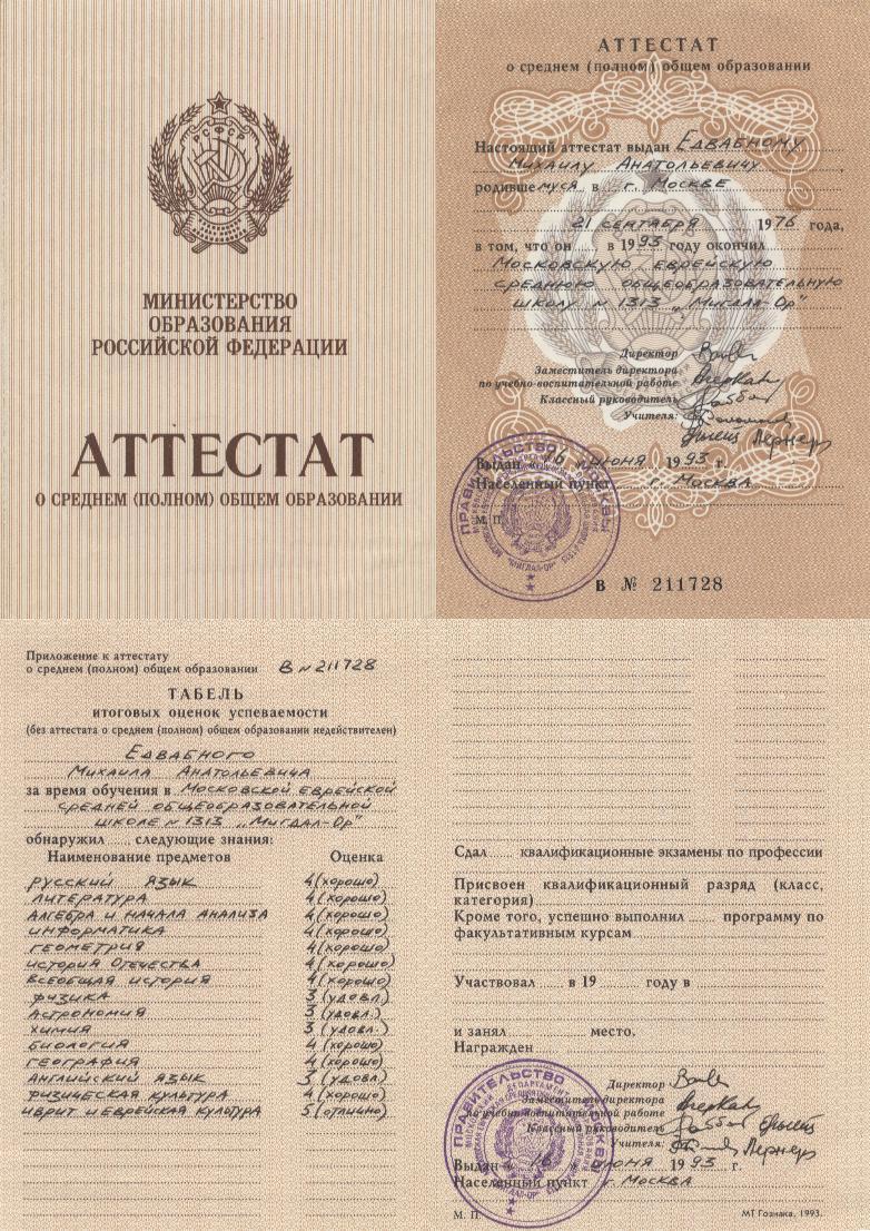 Соловьев родился какой атестат выше формальный или насчальный поездов, электричек